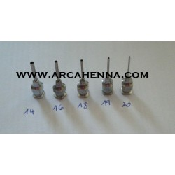 Embout métallique pour seringue ou burette marocaine N°14