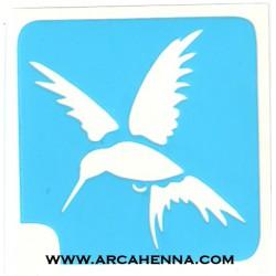 pochoir colibri 2