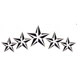 pochoir collier d'étoiles