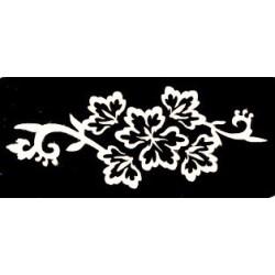 pochoir fleur de henné