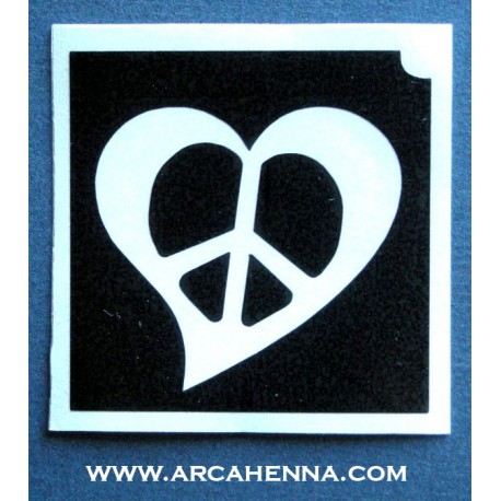 pochoir coeur peace & love