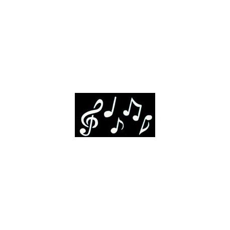 pochoir notes de musique