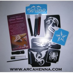Kit de tatouage paillettes thème tribal